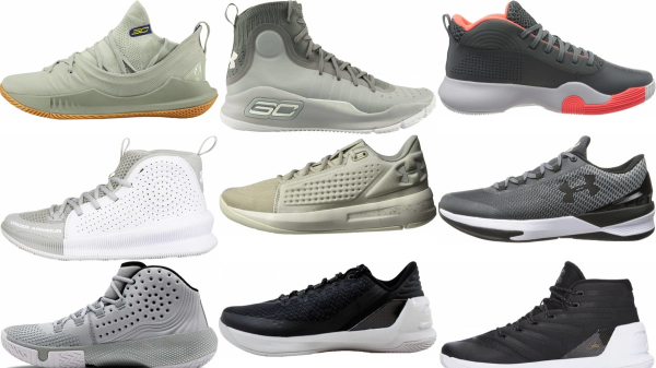 buy grey under armour basketball shoes for men and women