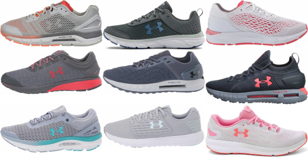 buy grey under armour running shoes for men and women