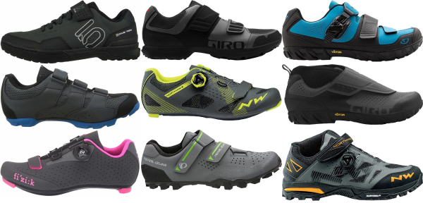 buy grey velcro cycling shoes for men and women