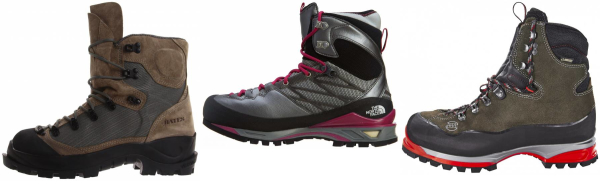 buy grey vibram mountaineering boots for men and women