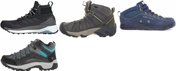 buy grey water repellent hiking boots for men and women
