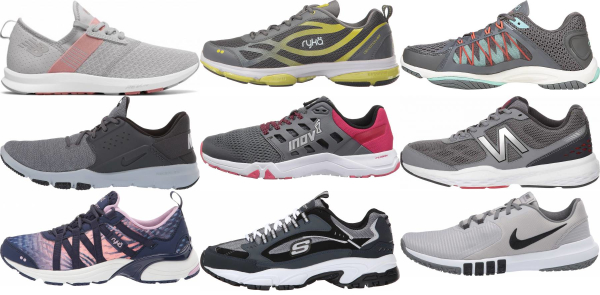 buy grey workout shoes for men and women