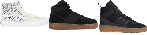 buy gum sole high top sneakers for men and women