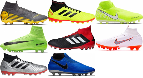 buy high top artificial grass soccer cleats for men and women