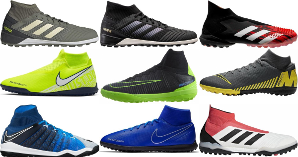 buy high top turf soccer cleats for men and women