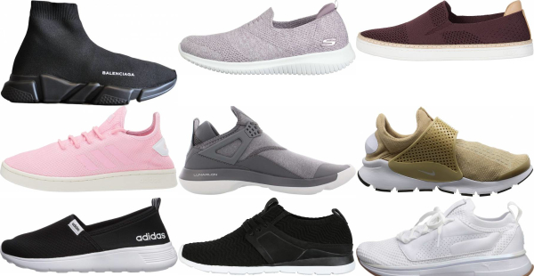 buy knit slip-on sneakers for men and women