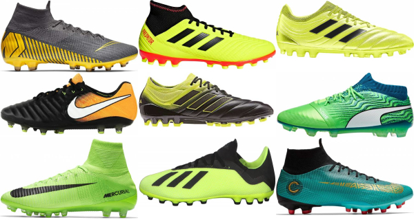 buy laced artificial grass soccer cleats for men and women