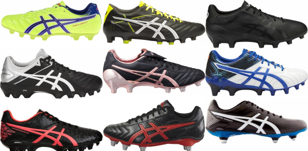 buy laced asics soccer cleats for men and women