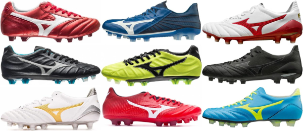 buy laced mizuno soccer cleats for men and women