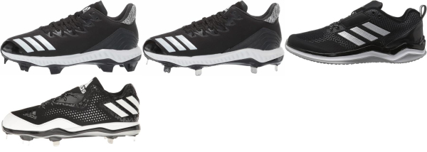 buy leather black baseball cleats for men and women