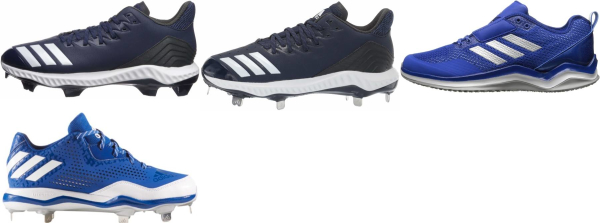 buy leather blue baseball cleats for men and women