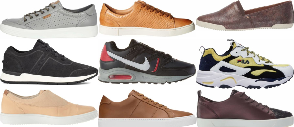 buy leather casual sneakers for men and women