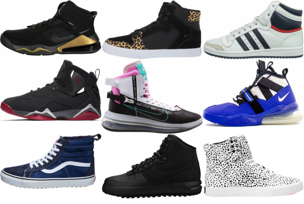 buy leather high top sneakers for men and women