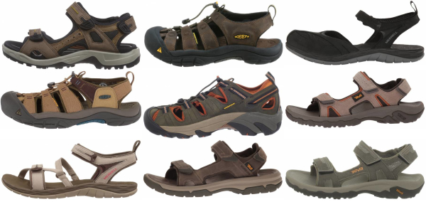buy leather hiking sandals for men and women
