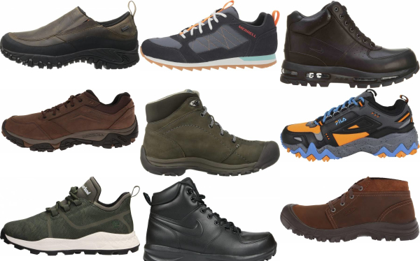 buy leather hiking sneakers for men and women