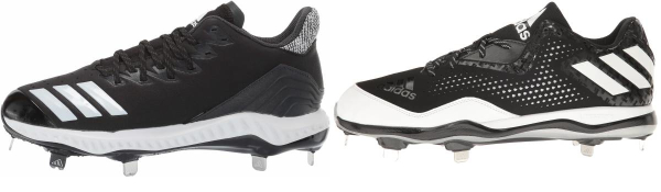 buy leather metal baseball cleats for men and women