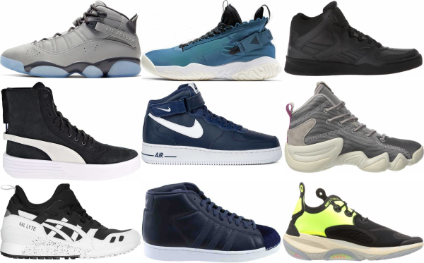 buy leather mid top sneakers for men and women