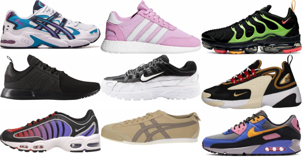 buy leather running sneakers for men and women
