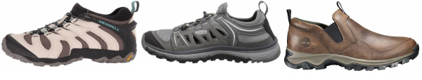buy leather slip on hiking shoes for men and women
