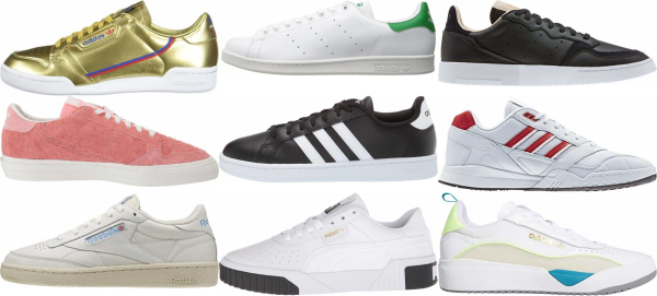 buy leather tennis sneakers for men and women