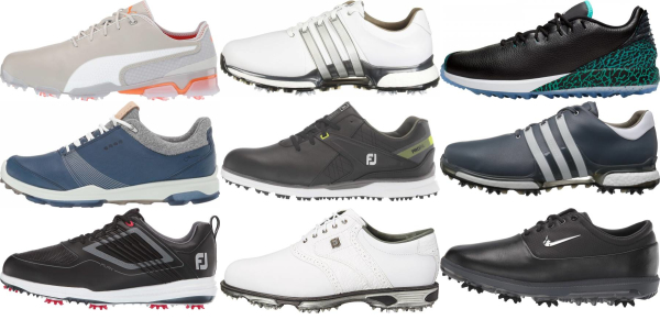 buy leather upper golf shoes for men and women