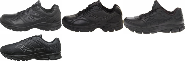buy leather upper saucony walking shoes for men and women