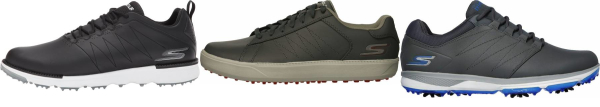 buy leather upper skechers golf shoes for men and women