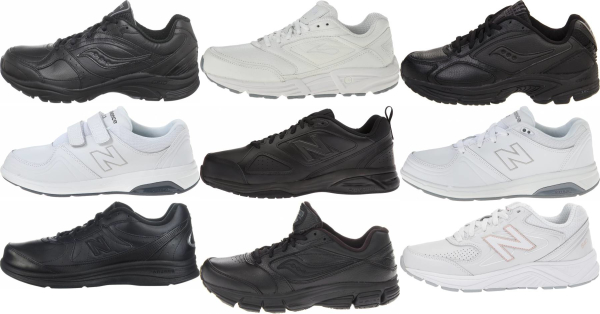 buy leather upper walking shoes for men and women