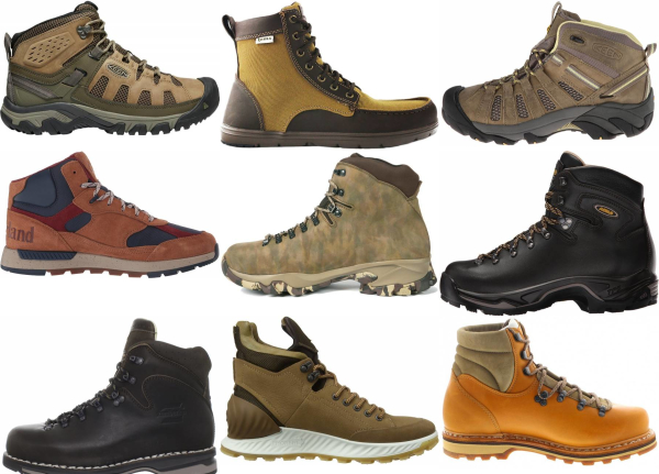 buy leather water repellent hiking boots for men and women