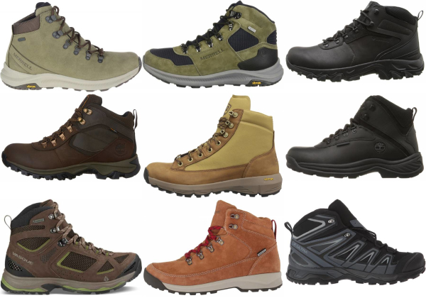 buy leather waterproof hiking boots for men and women