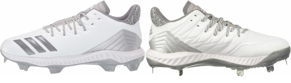 buy leather white baseball cleats for men and women