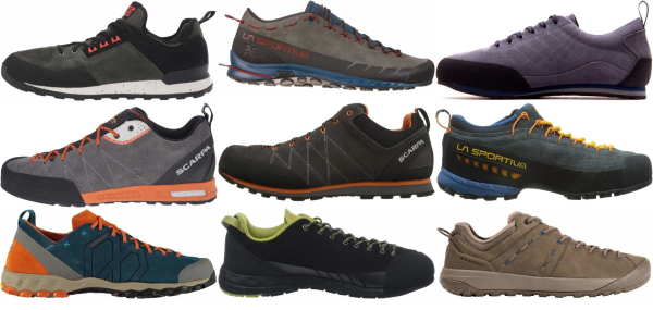 buy lightweight leather approach shoes for men and women