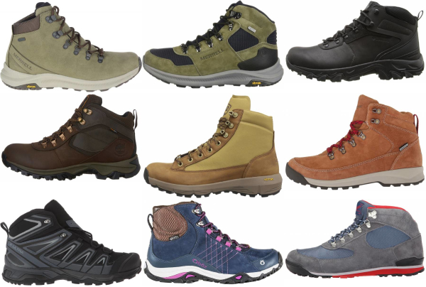 buy lightweight leather hiking boots for men and women