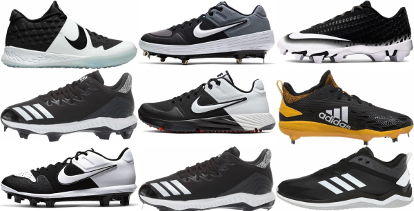 buy low black baseball cleats for men and women