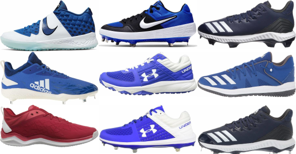 buy low blue baseball cleats for men and women
