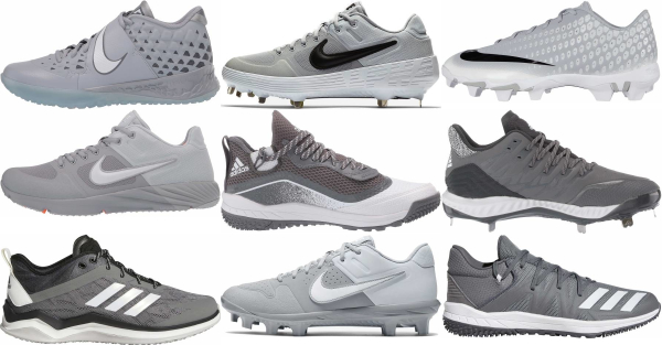 buy low grey baseball cleats for men and women