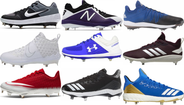 buy low metal baseball cleats for men and women