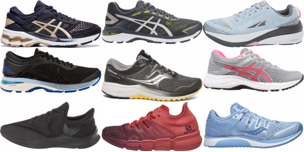 buy medium arch running shoes for men and women