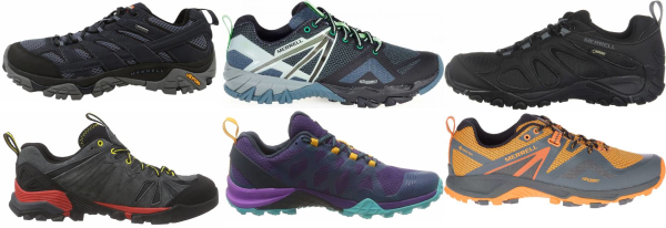 buy merrell gore-tex hiking shoes for men and women