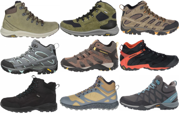 buy merrell lace up hiking boots for men and women