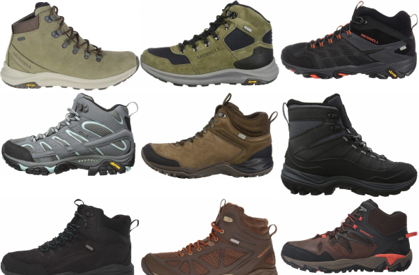 buy merrell leather hiking boots for men and women