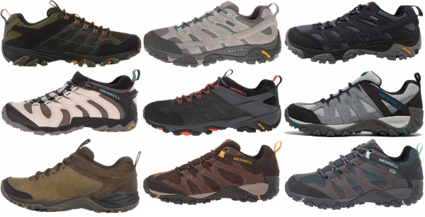 buy merrell leather hiking shoes for men and women