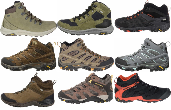 buy merrell mid cut hiking boots for men and women