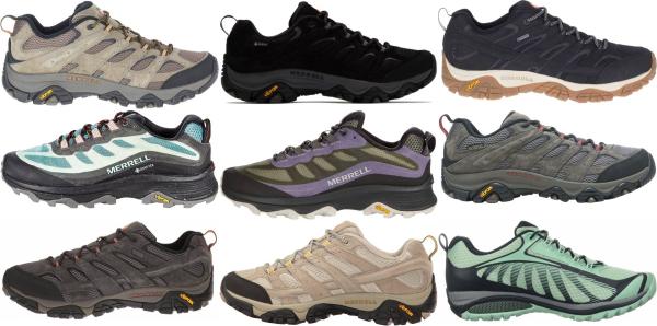 buy merrell vibram hiking shoes for men and women