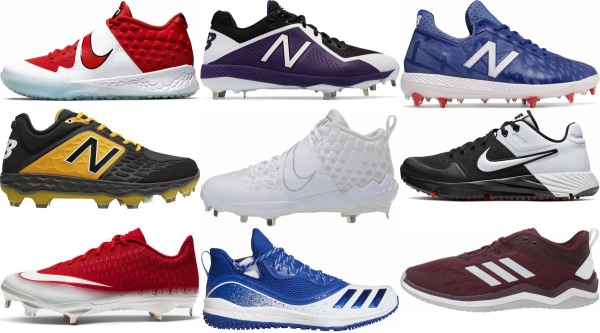 buy mesh baseball cleats for men and women
