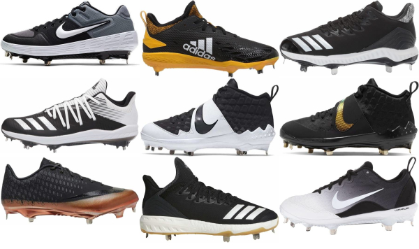 buy metal black baseball cleats for men and women