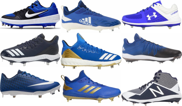 buy metal blue baseball cleats for men and women