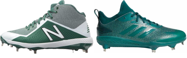 buy metal green baseball cleats for men and women