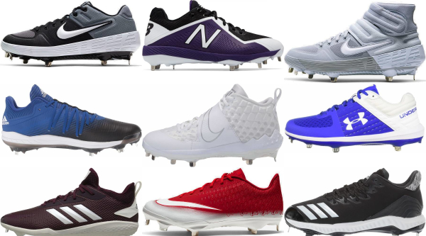buy metal lace-up baseball cleats for men and women