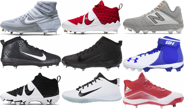 buy mid baseball cleats for men and women